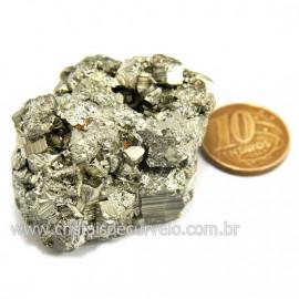 Pirita Peruana Pedra Extra Com Belos Cubo Mineral Cod 124231