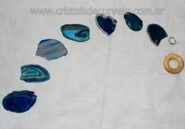 Mensageiro dos Ventos Chapas de Agata Azul Paz e Tranquilidade  APTO