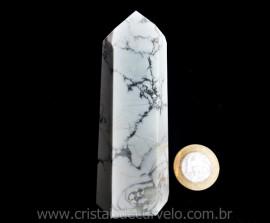 Ponta Howlita Lapidado Pedra Natural de Garimpo Cod PH1887