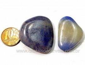 02 Quartzo Azul ou Aventurina Azul Pedra Rolado Para Mandala Pingente Colar Ref 21.5