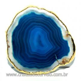 Pop Socket Agata Azul Natural Suporte P/ Celular Reff 113368