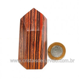 Ponta Jaspe Rajado Lapidado Gerador Pedra Natural Cod 121171