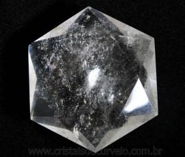 Estrela De Davi Ou Selo de Salomão Pedra Cristal De Quartzo 20 a 50 G