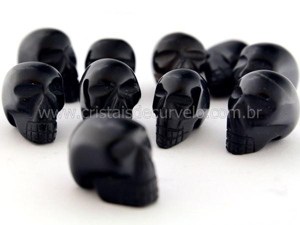 6af79db346521 Cranio Não Pingente Pedra OBSIDIANA NEGRA Esculpido em Pedra Natural  Pequeno - Loja Cristaisdecurvelo