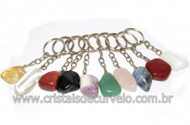 10 Chaveiro Pedra Rolada Mista Tamanho Medio ATACADO 113765