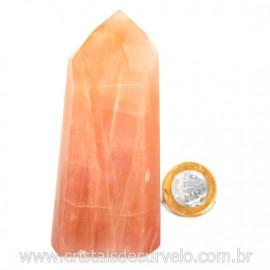 Ponta Pedra Quartzo Goiaba Natural Lapidação Gerador Cod 127907