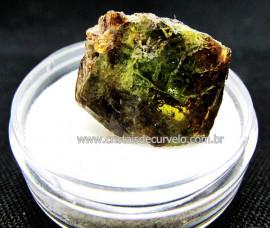 Esfenio Titanita Verde Mineral Natural No Estojo Para Colecionador Exigente Cod ET47.5