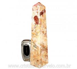 Obelisco Geodo de Calcedonia Geodo Pedra Raro e Natural Lapidado OC8633
