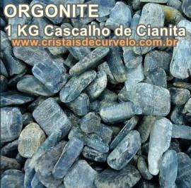 1 KG Cianita Azul Cascalho De Canudos para Fabricar Orgonite