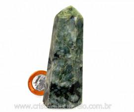 Ponta Esmeralda Incrustado no Xisto Pedra Natural Cod PE5536