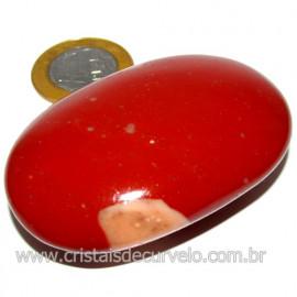 Sabonete Massageador Jaspe Vermelho Pedra Natural Cod 114293
