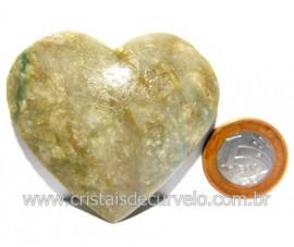 Coraçao Jade Verde Natural Origem Montes Claros MG Cod 117880