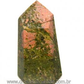 Ponta Unakita Natural Lapidaçao Gerador Sextavado Cod 113659