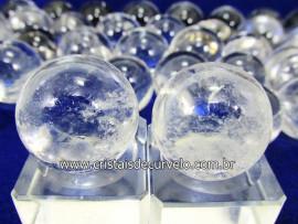 02 Mini Bola de Cristal Esfera Bem Limpa Pedra Extra e Pequena Kit ME1227