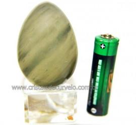 Ovo Clorita Verde Pedra Natural Para Colecionador Cod 110586