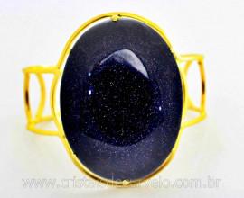 Bracelete Fixo Pedra Estrela Grande Dourado Ouro REFF BG2893