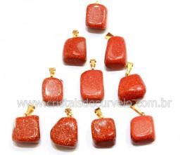 10 Pingente Pedra do Sol Pedrinha Rolado Pino Argola Flash Dourado ATACADO