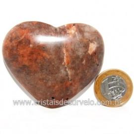 Coração Amazonita Pêssego Pedra Natural de Garimpo Cod 119057