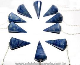 10 Pêndulos Quartzo Azul Pedra Facetado ATACADO REFF 101287