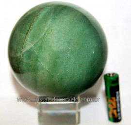 Esfera Quartzo Verde Pedra Natural Bola Lapidado Cod BV1850