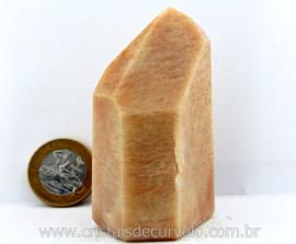 Ponta Amazonita Rosa Pedra Extra Natural Lapidado em Gerador Sextavado Cod 186.9