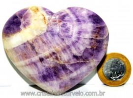 Coração Chevron Extra Pedra Natural de Garimpo Lapidada CC6349