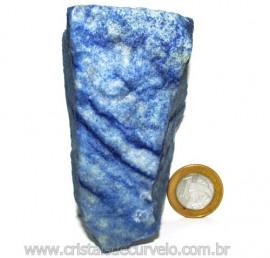 Quartzo Azul ou Aventurina Azul Bruto Natural Cod 110797