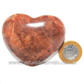 Coração Amazonita Pêssego Pedra Natural de Garimpo Cod 119056