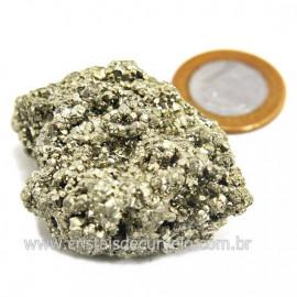 Pirita Peruana Pedra Extra Com Belos Cubo Mineral Cod 124221
