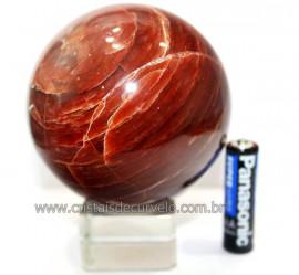 Esfera Aragonita Vermelha Natural Tamanho Médio Cod 110278
