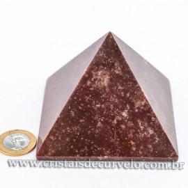 Pirâmide GRANDE Pedra Quartzo Vermelho Natural Queops cod 120728