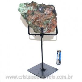 Esmeralda Canudo Pedra Natural com Suporte De Ferro Cod 121534