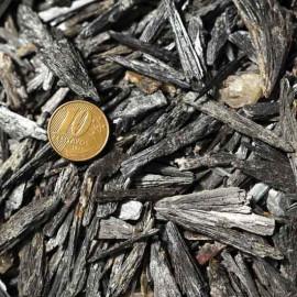 Cascalho Cianita Preta 200gr Pequeno Bruto Natural Pra Orgonite