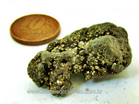 Pirita Natural Pedra Comum Cubos Cor Ouro ao Cinza Para Colecionador Cod 16.7