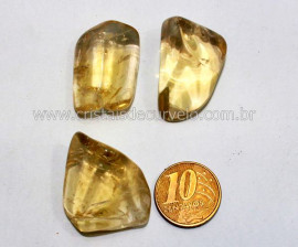 03 Citrino nao Bombardeado Rolado Pedra Natural de Garimpo Esoterismo Colecionador Reff 38.4