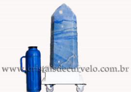 Ponta Quartzo Azul Pedra Grande 45.5 cm Natural Cod 109144