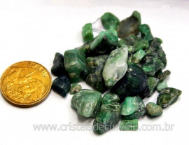 Esmeralda Miudo Pedra Rolado Pacotinho 20 Gr Mineral Natural
