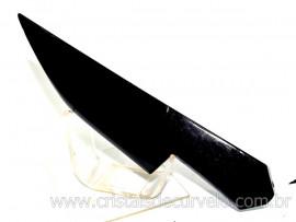 Adaga ou Athame Faca Pedra Obsidiana Negra Esoterico Cod AF1658