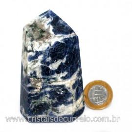 Ponta Sodalita Pedra Natural Gerador Sextavado Cod 126551