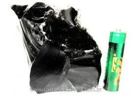 Obsidiana Negra Mineral Vulcanico Pequeno Natural Cod ON8552