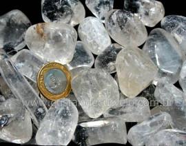 Cristal Pedra Rolado Grande Pacote 1kg de Quartzo Hialino Semi Transparente