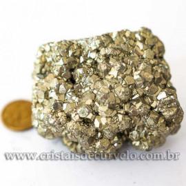 01 Pirita Peruana Pedra Bruto 70 mm Aprox 300 a 400 GR