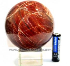 Esfera Aragonita Vermelha Natural Tamanho Médio Cod 110281