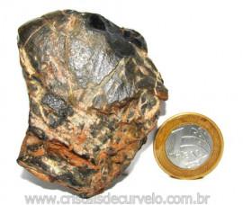 Onix Preto Pedra Bruto Natural Família Calcedonia Cod 110963