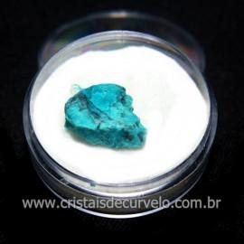 Crisocola Bruto Lasca No Estojo Mineral Natural Cod 118524