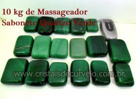 10 kg Massageador Sabonete Cristal Quartzo Verde Massagem Terapeutica Com Pedras
