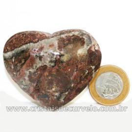Coração Pedra Quartzo Jiboia Natural Lapidação manual Cod 126888