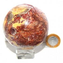 Esfera Quartzo Jiboia Pedra Natural Lapidação Bola cod 124171