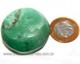 Massageador Cabochão Quartzo Verde Pedra Natural Cod 111063