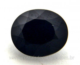 Obsidiana Negra Gema Facetado Montagem 4ct 12mm Reff GR8041